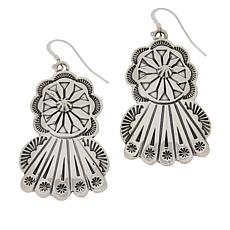 Chaco Canyon Sterling Silver Stamped Drop Earrings