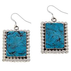 Chaco Canyon Sterling Silver Turquoise Beaded Frame Drop Earrings