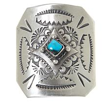 Chaco Canyon Sterling Silver Turquoise Hair Clip
