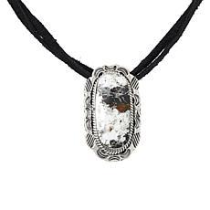 Chaco Canyon White Buffalo Howlite Leather Choker Necklace