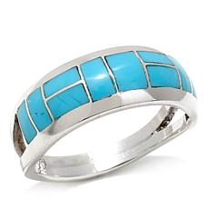 Chaco Canyon Zuni Sleeping Beauty Turquoise Band Ring