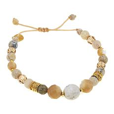 Chan Luu African Opal and Mixed Stone Adjustable Pull-String Bracelet