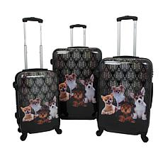 Chariot 3-piece Hardside Luggage Set - Doggies