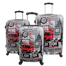 Chariot 3-piece Hardside Luggage Set - London