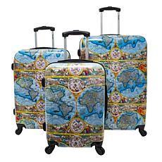 Chariot 3-piece Hardside Luggage Set - One World