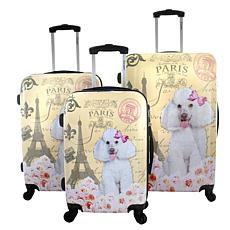 Chariot 3-piece Hardside Luggage Set - Paris