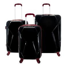 Chariot Antonio 3-piece Hardside Spinner Luggage Set in Black