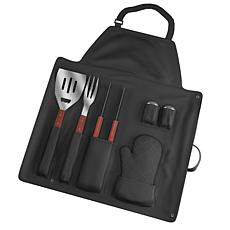 Chef Buddy™ 7-piece BBQ Apron and Utensil Set