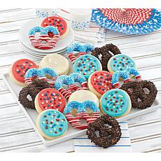 Cheryl's 20-piece Patriotic Cookie and Pretzel Gift