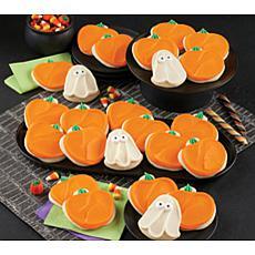 Cheryl's 24-piece Buttercream Frosted Ghost and Pumpkin Cutout Cookies