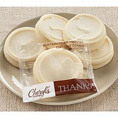 Cheryl's 24-Piece Frosted Thank You Cutout Cookies