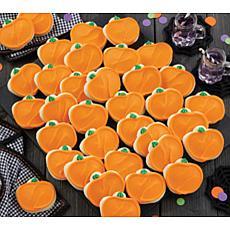 Cheryl's 36-piece Buttercream Frosted Pumpkin Cutout Cookies