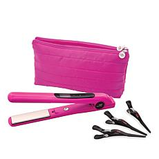 CHI Pink Smart GEMZ Volumizing Hairstyling Iron with Clips and Bag