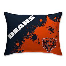 """Chicago Bears Splatter Print Plush 20x26"""" Bed Pillow"""