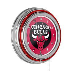 Chicago Bulls Double Ring Neon Clock