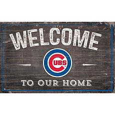 Chicago Cubs 11x19 Welcome to our Home Sign