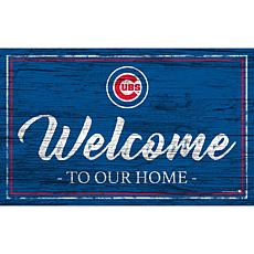Chicago Cubs Team Color Welcome Sign - 11x19""