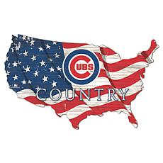 Chicago Cubs USA Shape Flag Cutout
