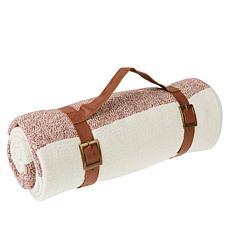 Chris & Peyton 100% Cotton Picnic Blanket with Carry Strap