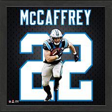 Christian McCaffrey Impact Jersey Framed Photo