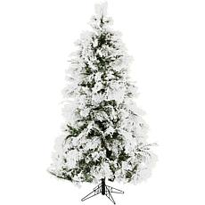 Christmas Time 6.5' Frosted Fir Snowy Artificial Christmas Tree