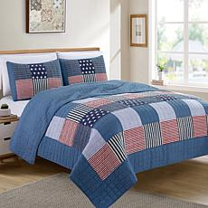 Christopher Knight Collection Americana Patchwork 3-piece Quilt Set