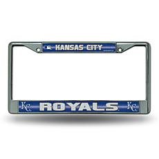Chrome License Plate Frame w/Bling - Kansas City Royals