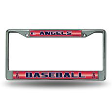 Chrome License Plate Frame w/Bling - Los Angeles Angels