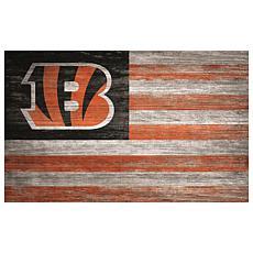 Cincinnati Bengals Distressed Flag 11x19