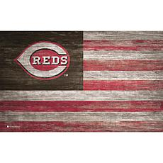 Cincinnati Reds Distressed Flag 11x19
