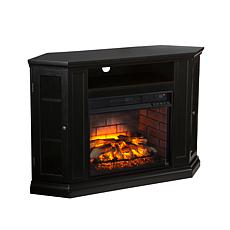 Claremont Convertible Media Infrared Fireplace - Black
