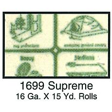 Clear Vinyl 54 Wide 15yd Roll - Supreme 16 Gauge, Green Paper