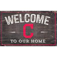 Cleveland Indians 11x19 Welcome to our Home Sign