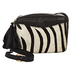 Clever Carriage African Safari Haircalf Leather Crossbody