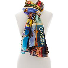 Clever Carriage Beach Resort Silk Scarf
