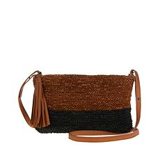 Clever Carriage Company Hand-Knitted Leather Crossbody