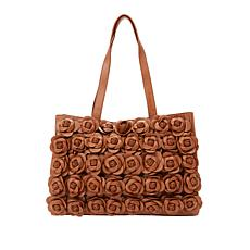 Clever Carriage French Leather Handcrafted Rose Satchel