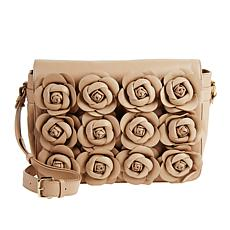 Clever Carriage Handcrafted Rose Leather Bouquet Shoulder Bag