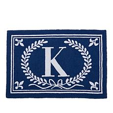 Clever Carriage Home Initial Hooked Rug