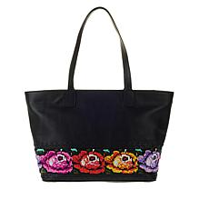 Clever Carriage Leather Handbeaded Shopper