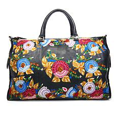 Clever Carriage Rose Garden Leather Weekender - Limited Quantity