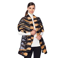 Clever Carriage Silk and Wool Animal Print Scarf