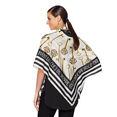 Clever Carriage Women Power Key Silk Scarf