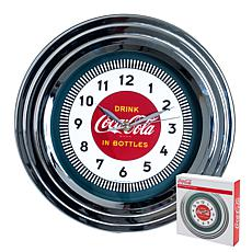 "Coca-Cola 11-3/4"" Clock with Chrome - '30s Style"
