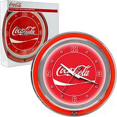 "Coca-Cola ""Dynamic Ribbon"" Neon Clock"