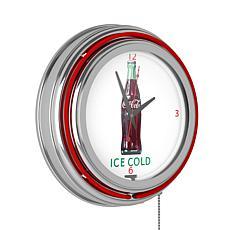 """Coca-Cola """"Ice Cold"""" Retro Neon Clock"""