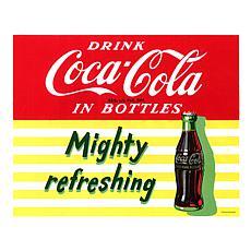 "Coca-Cola ""Mighty Refreshing"" Canvas Art"