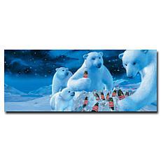 "Coca-Cola ""Polar Bear Nest with Coke Bottles"" Canvas Art"