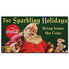 "Coca-Cola Santa ""For Sparkling Holidays"" Canvas Art"