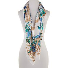 Collection 18 Botanical Status-Print Square Scarf